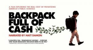 DEY's Senior Advisor, Nancy Carlsson-Paige, and her son, Matt Damon, participated in the recent screening of Backpack Full of Cash.