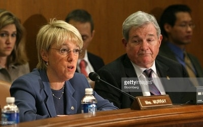 Senator Patty Murray (D, Washington), Cabinet nominee Betsy DeVos