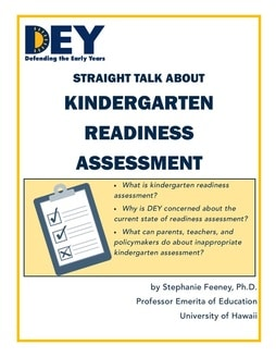 Kindergarten Readiness Assessment, DEY Report