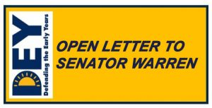 DEY Takes Action: Open Letter to Senator Warren