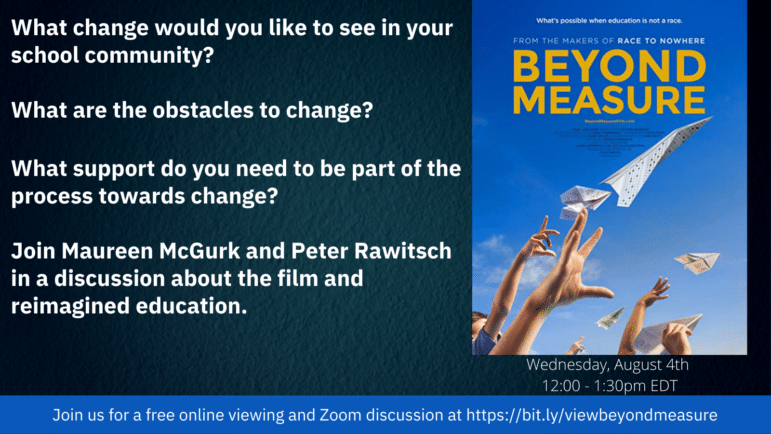 invitation to a screening of Beyond Measure